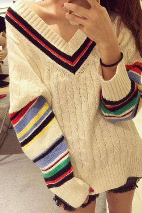 Fashion v-neck sweater