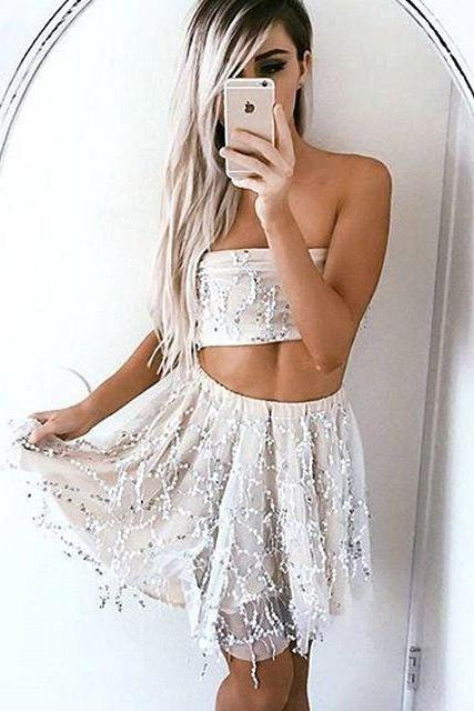 Sequins two-piece dress